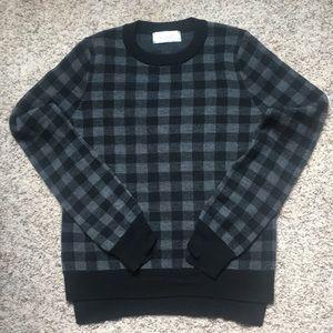 A.L.C Black and gray wool sweater Medium